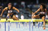 Queen Harrison (right) defeats Lolo Jones (left) in Turin (Giancarlo Colombo)