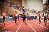 Francena McCorory wins the 400m at the IAAF Diamond League meeting in Monaco (Philippe Fitte)
