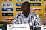 Michael Johnson at the IAAF/BTC World Relays, Bahamas 2015 press conference (Getty Images)