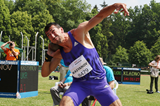 Oleksiy Kasyanov in the decathlon shot put at the TNT Express meeting in Kladno (Jan Kucharcik)