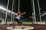 Betty Heidler of Germany on her way to victory in the Women's Hammer Throw Final (Getty Images)