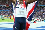 Phillips Idowu of Great Britain & Northern Ireland celebrates his first IAAF World Championship gold medal in the men's Triple Jump final in Berlin (Getty Images)