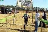 Sylvia Chebiwot wins the women's 4km race at the Kenya Prisons Cross Country Championships (Omulo Okoth)
