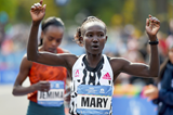 Mary Keitany in action at the New York City Marathon (AFP / Getty Images)
