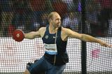 Robert Harting at the 2014 IAAF Diamond League final in Brussels (Gladys von der Laage)