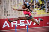 Lashinda Demus flies over a barrier in Monaco on her way to 52.63sec win (Jiro Mochizuki (Agence Shot))