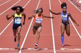 English Gardner wins the 100m international race at the 2015 IAAF Diamond League meeting in Eugene (Kirby Lee)