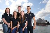 Alexandra Hulley, Jessica Thornton, Nick Hough, Sam Geddes and Nick Andrews, some of Australia's leading athletes set to compete at the Youth Olympic Games (Getty Images)