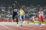 LaShawn Merritt runs a world-leading time and PB of 43.75 to win the 2008 Olympic 400m title (Getty Images)