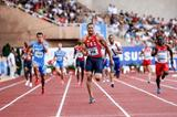 Ryan Bailey anchors the US 4x100m Relay in Monaco (Philippe Fitte)