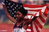 Monique Henderson, 400m gold medallist (© Allsport)