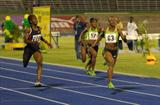 Veronica Campbell-Brown wins the women's 200m at the 2011 Jamaican Champs (Anthony Foster)