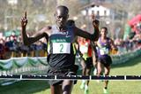 Mark Kiptoo wins the men's race at the Amorebieta XC (Unai Sasuátegi)