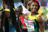 Shelly-Ann Fraser-Pryce after the women's 4x200m final at the IAAF World Relays (Getty Images)