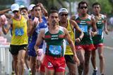 Diego Flores leading in the men's 20km Race Walk at 2013 Pan American Race Walking Cup (Fernando Ruiz)