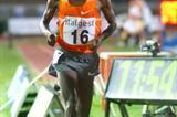 Eluid Kipchoge of kenya strides to 12:56.46 in Milan (Lorenzo Sampaolo)