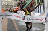 Dominic Kangor smashes his PB and the course record to win the 2013 Brighton Marathon (Organisers)