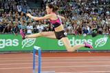 400m Hurdles winner Zuzana Hejnova at the 2013 IAAF Diamond League meeting in Zurich (Jiro Mochizuki)