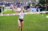 Hayley Yelling takes the senior women's title at the 2009 European XC Champs (Hans Sjögren)