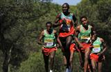 Geoffrey Kipsang Kamworor of Kenya in action in the men's junior race (Getty Images)