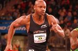 In a rare indoor appearance Asafa Powell takes the New York 50m (Victah Sailer)