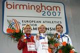 Silvia Weissteiner of Italy celebrates winning brozne in Birmingham (Getty Images)