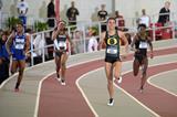 Jenna Prandini in the 200m heats at the 2015 NCAA Indoor Championships (Kirby Lee)