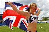 Sophie Hitchon celebrates winning Great Britain's first ever global championship women's Hammer medal of any colour (Getty Images)