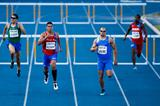 Andres Silva on his way to winning the 400m hurdles at the Ibero-American Championships (Getty Images)