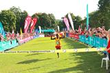 Fred Musobo winning at the 2015 World Mountain Running Championships (Organisers)