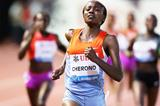 Mercy Cherono wins the 3000m at the Diamond League meeting in Monaco (Gladys Chai van der Laage)