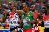 Mo Farah in the mens 5000m at the IAAF World Athletics Championships Moscow 2013 (Getty Images)