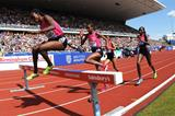 Milcah Chemos on her way to a meeting record in the Steeplechase at the Birmingham Diamond League (Mark Shearman)