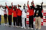 Kenyan men's squad celebrate their victory in Chiba (Hasse Sjögren)