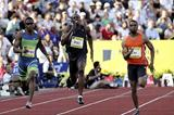 Tyson Gay powers to the 200m win in London (Getty Images)