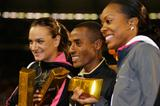 All gold: Yelena Isinbayeva, Kenenisa Bekele and Sanya Richards (Getty Images)