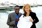 Paul Tergat and Race Director Mary Wittenberg in Monaco (Mark Shearman)