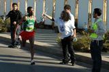 Alemayehu Shumye of Ethiopia on the way to winning the 2008 BLOM Beirut Marathon (LOC)