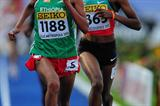 Gotytom Gebreslase of Ethiopia wins the Girls' 3000m final at the IAAF World Youth Championships in Lille (Getty Images)