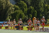 Action from the girls' 5000m race walk (Getty Images)