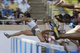 Joanna Hayes of the US wins the 100m Hurdles at the World Athletics Final (Getty Images)