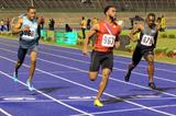Tyson Gay (963) wins at the 2013 Jamaica International Invitational meeting in Kingston (Anthony Foster)
