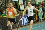 Kamil Krynski (left) wins over 200m at the 2013 Polish indoor championships (Marek Biczyk)