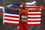 Decathlon world record-holder Ashton Eaton at the IAAF World Championships, Beijing 2015 (Getty Images)