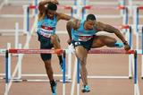 David Oliver and Jason Richardson in the sprint hurdles (Getty Images)