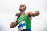 Ashton Eaton in the decathlon shot put (Organisers)
