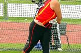 Simeone du Tiot throwing in the Youth Discus at the SA Champs (Ouma)