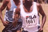 Elias Kemboi leads Richard Limo (David Macharia)