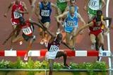 Saif Saaeed Shaheen of Qatar wins his 3000m steeplechase heat (Getty Images)