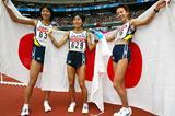 Masako Chiba, Mizuki Noguchi and Naoko Sakamoto (Getty Images)